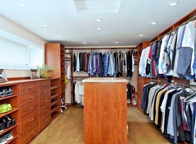 The masterwalk-in closet