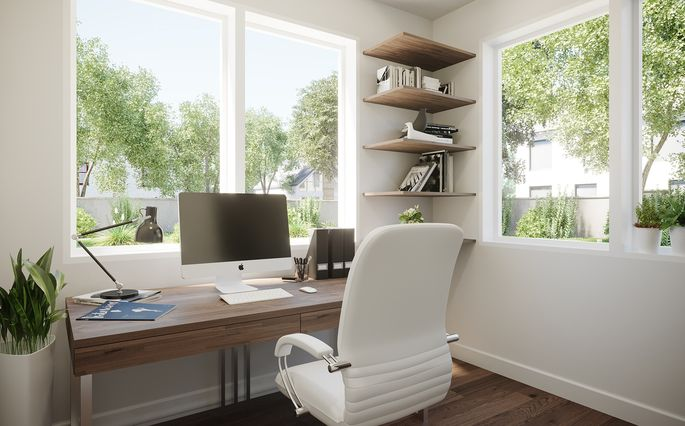 Carrino knows that offices are now a big part of home design.