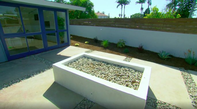 This is a big improvement from the yard Tarek El Moussa and Christina Anstead started with.