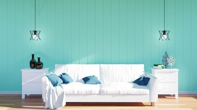 Wood Panel Walls Turquoise