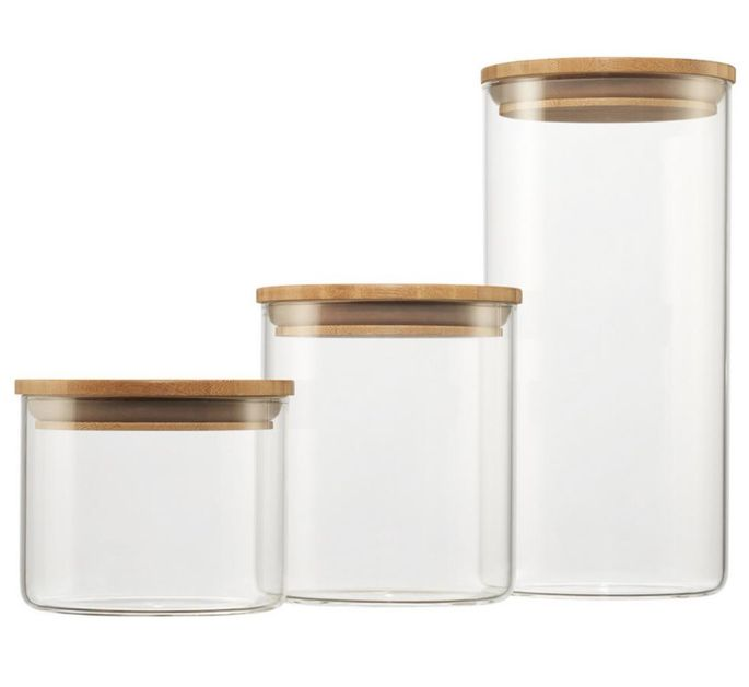 Go for glass containers so you'll know when you're low on flour.
