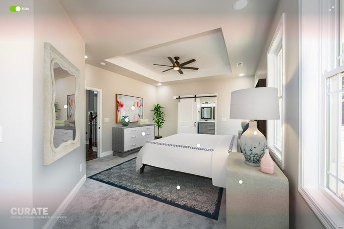Virtual staging allows agents to curate their ideal rooms.