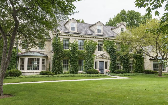 Olive Scannell Bryson's greater-Milwaukee mansion. The 4.9-acre estate, located in the North Shore village of Fox Point, has an asking price of $3.8 million. Maureen Stallé is handling the sale for Stallé Realty Group/Keller Williams.