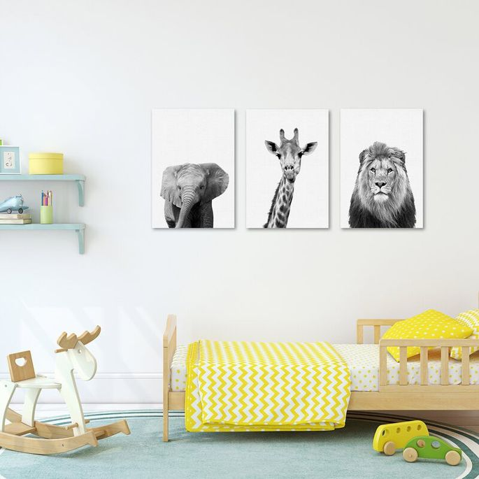 The price is right for this set of three animal faces.