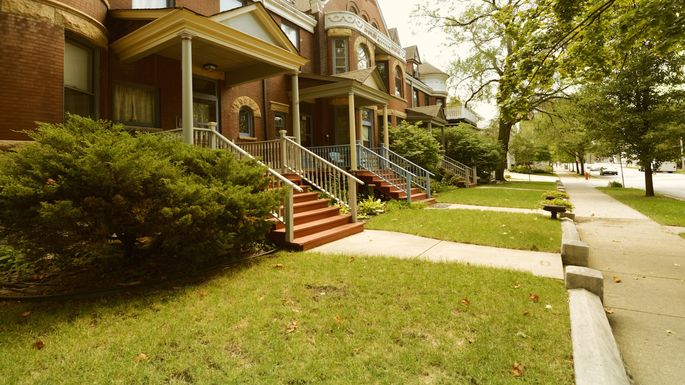 Brownstones, Oak Park, Chicago