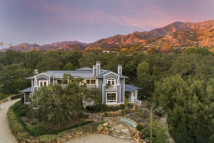 Sue Grafton's Montecito, CA, estate