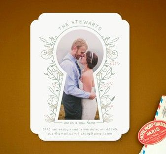 The keyhole cutout makes this adorable card even cuter.
