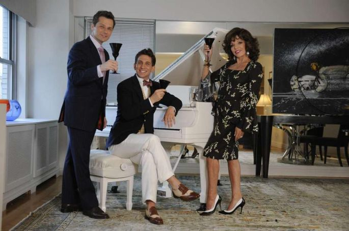 Who better to star in Joan Collins' New York City open house than Joan Collins?!