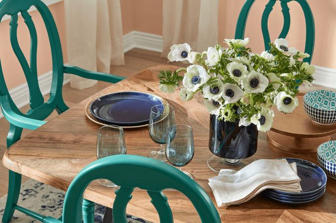 Color palette for the dining room
