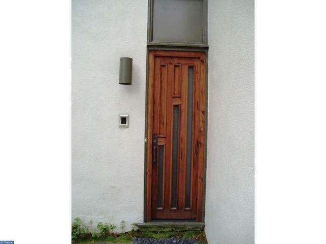 The Frank Lloyd Wright replica door, made ofcedar wood