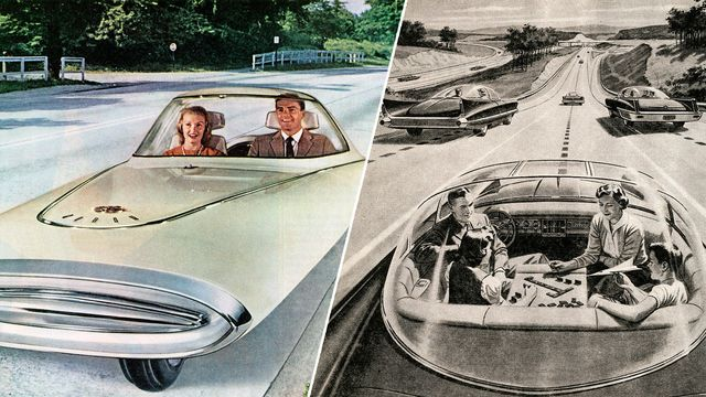 Driverless cars concepts from the 1950s and '60s