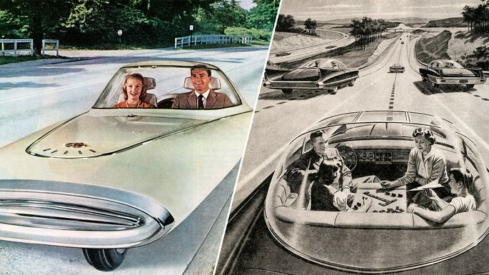 Look Ma, no hands: Driverless cars concepts from the 1950s and '60s