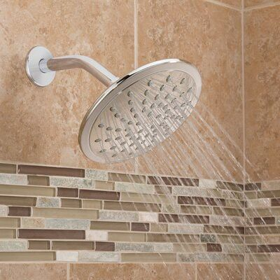 A rain shower head adds luxury to your bathroom.