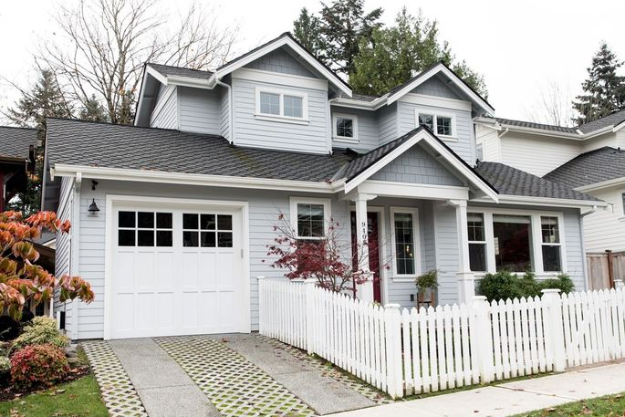 Joe Platzner and Michelle Banks bought this house in Kirkland, Wash. in October for $1.1 million. Built in 2017, the house is part of a development that includes a communal barn, storage space, yards and a homeowner's association.