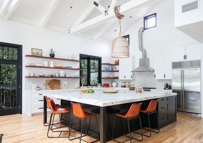 Is the kitchen island too big?