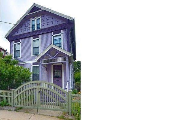 A purple Victorian in Roxbury, MA