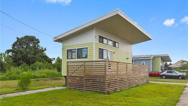 This tiny house was built by Brad Pitt's foundation, Make It Right.