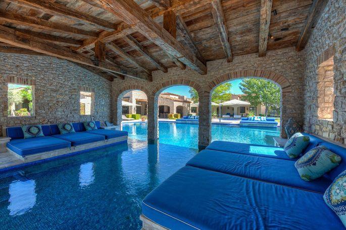 Pool with covered ramada