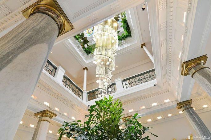 Three-story atrium