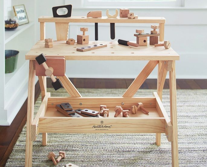 A tool bench fit for a future homebuilder