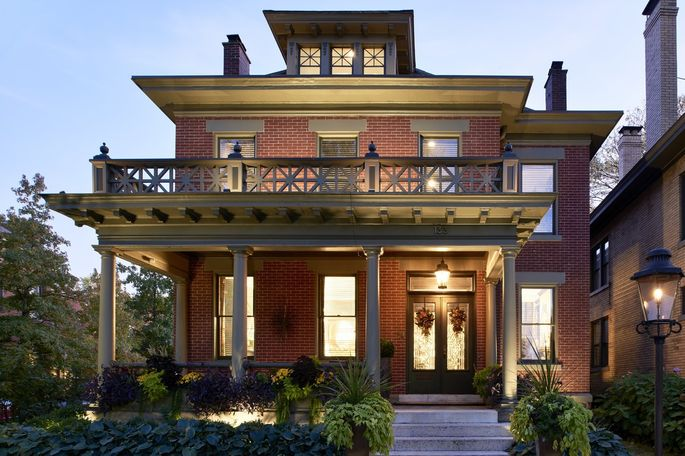 The exterior of the McManus-Lawson home. They paid $1.5 million for the home, built for a whiskey distiller in the 1890s.