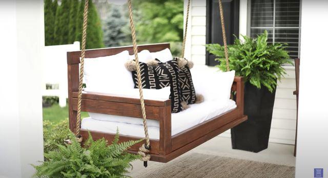 DIY bench swing