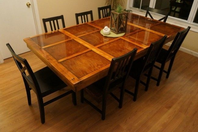 Top with glass, and a dining room table is born.