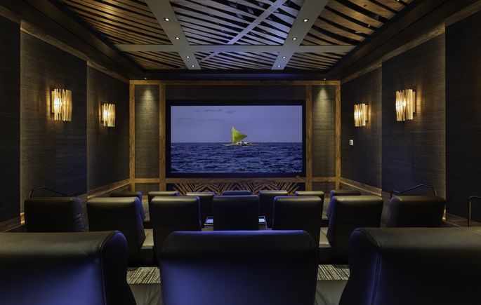 Movie theater in clubhouse