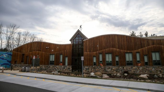 Exterior of the new Sandy Hook Elementary School in Newtown, CT