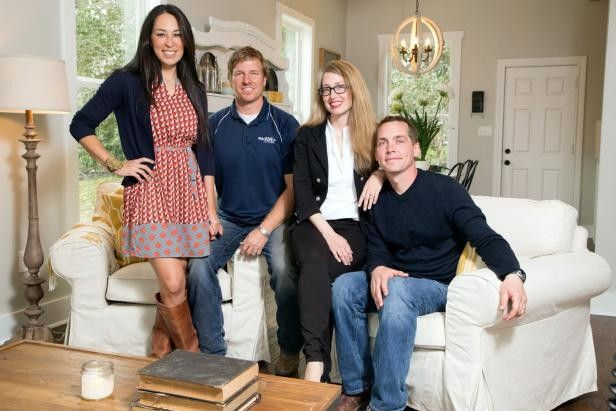 Joanna and Chip Gaines with Kelly and Clint Harp