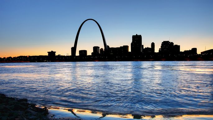 Gateway Arch, the world's tallest, in St. Louis, MO