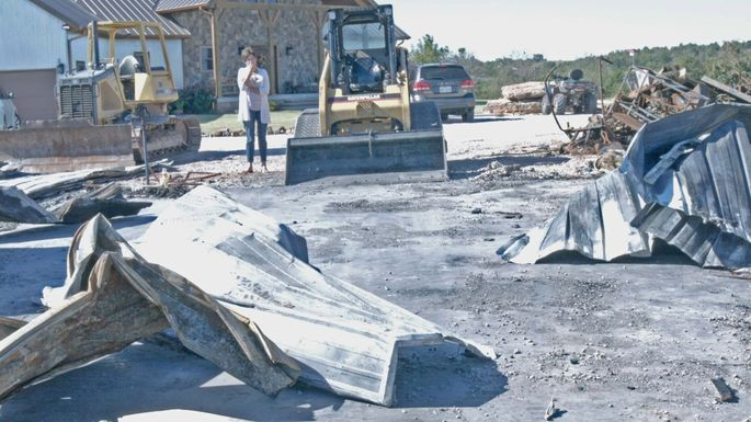 Linda Hazlip looks at the damage