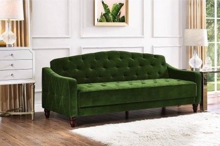 A Glamorous Green Sofa Will Add Punch Of Color To Your Living Room