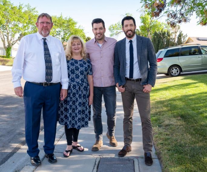 James and Crystal with Jonathan and Drew Scott