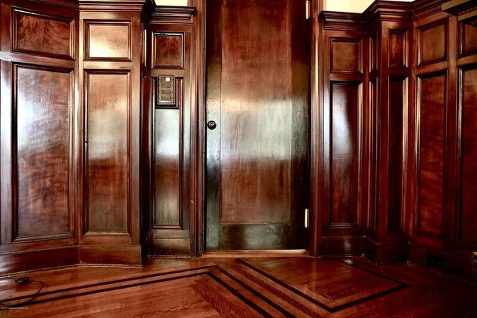 Elegant wood paneling