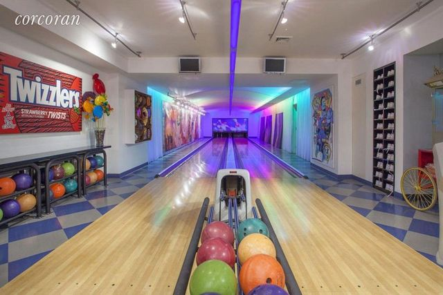 Water Mill NY estate bowling alley