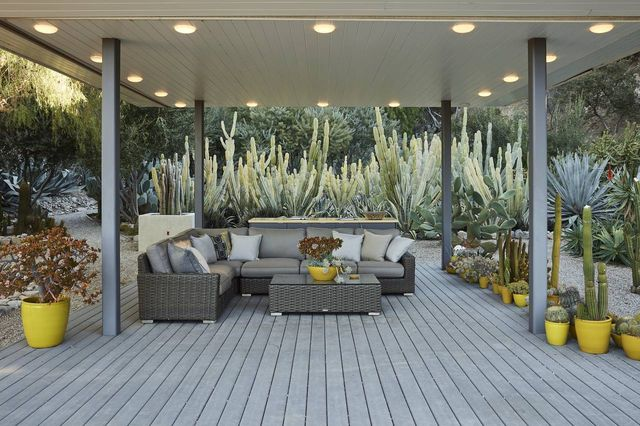 """The patio. """"The whole exterior becomes part of the house,"""" Mr. Pittman said."""