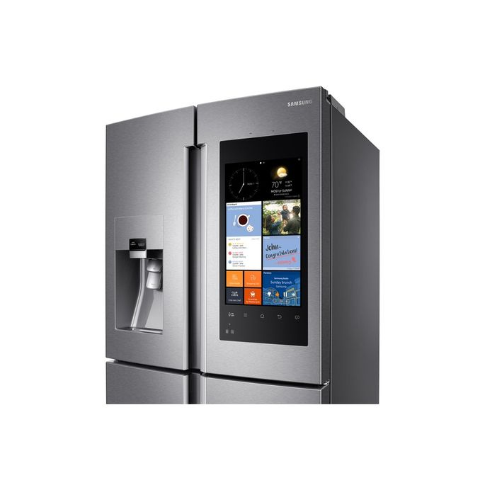 This Samsung specialty fridge brews coffee and tea, too.