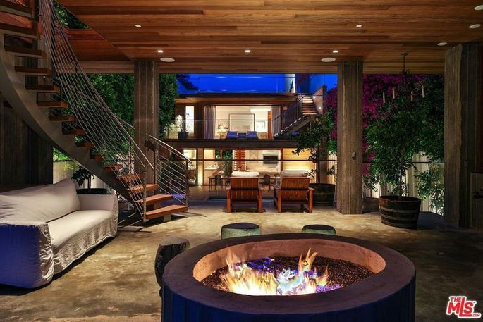 Fire pit and multiple decks