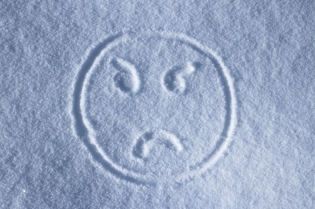 Smiley face in the snow