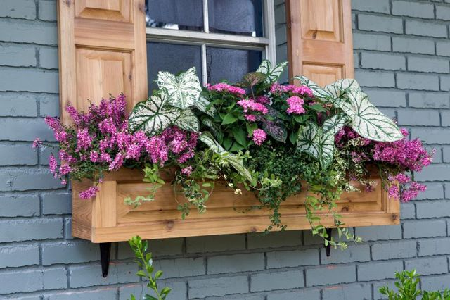 "Repurposed wood often gets a second life as a window box on ""Fixer Upper."""