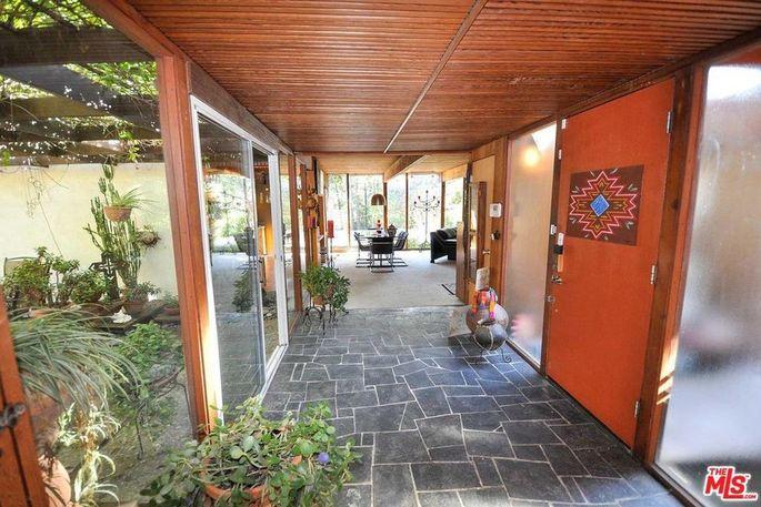 Hallway with stone flooring