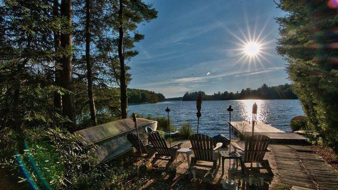 Lakefront home in Pocono Pines, PA