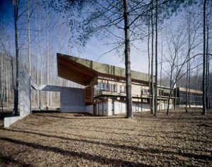 Concrete and Glass Modern Retreat in Georgia