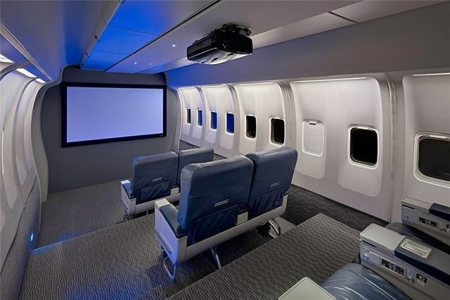 Austin Home Features Airplane Cabin Themed Media Room Made