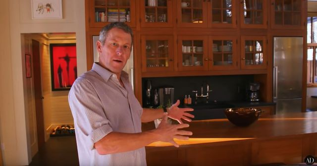 Lance Armstrong home tour Aspen kitchen