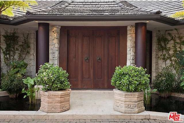 Front Door at the Los Angeles Home of Cheryl Tiegs