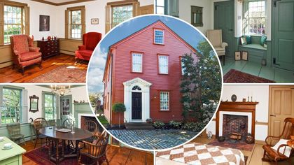 Built in 1743, Historic Colonial in Newport Has Been Beautifully Preserved