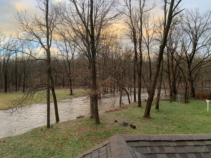 The creek in our backyard is so picturesque, it's worth the flood risk.