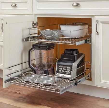 These dual-level drawers are listed for $128 at Home Depot.